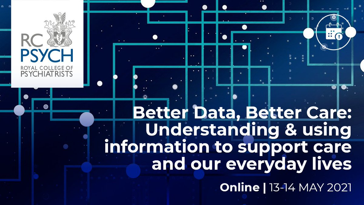 1week2go c over 150 delegates signed up from #Medstudents to #medicaldirectors   📊#rcpsychdata21 we are talking all things #data #dashboards #digital #qi  @SteveWatkinsNHS @Repealist_ @AnushtaS @DrAdrianJames @skalidindi1 @GoCarpediumDoc @RichardsonJP1 @EdDavie @Andy__Bell__ https://t.co/hBaO5XdioP