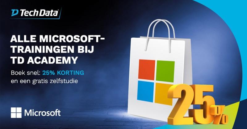 Boek nu uw Microsoft training met 25% korting…