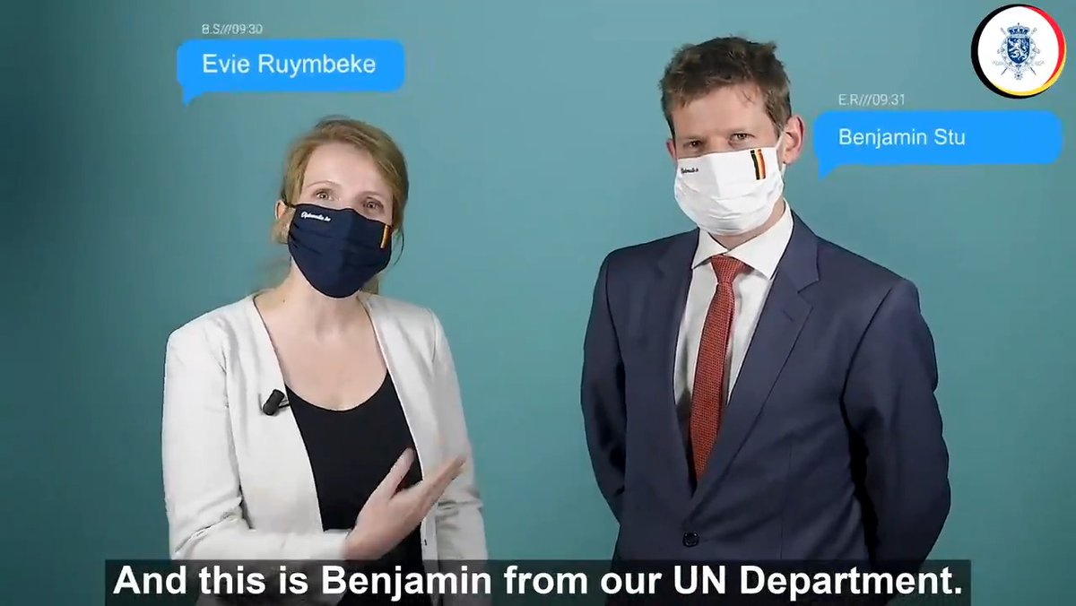 Curious to know how 🇧🇪 diplomats Evie Ruymbeke & Benjamin Sturtewagen are working on the issue of protecting children in armed conflict, one of the priorities of Belgian foreign policy ?  Find out in the video below! #BehindtheScenesofMultilateralism #CAAC #ChildrenNotSoldiers