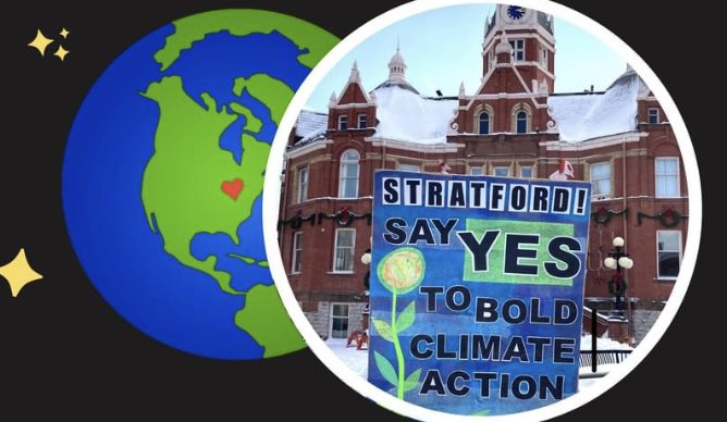 ALERT‼️ #StratfordON area residents! 📣 Join our virtual community meeting Feb 18th @ 7pm. We'll mark the 1st anniversary of the Climate Emergency Declaration & kick start local climate action for 2021. 🌎 We have updates & speakers. We need YOU!! >> climateevent.eventbrite.ca