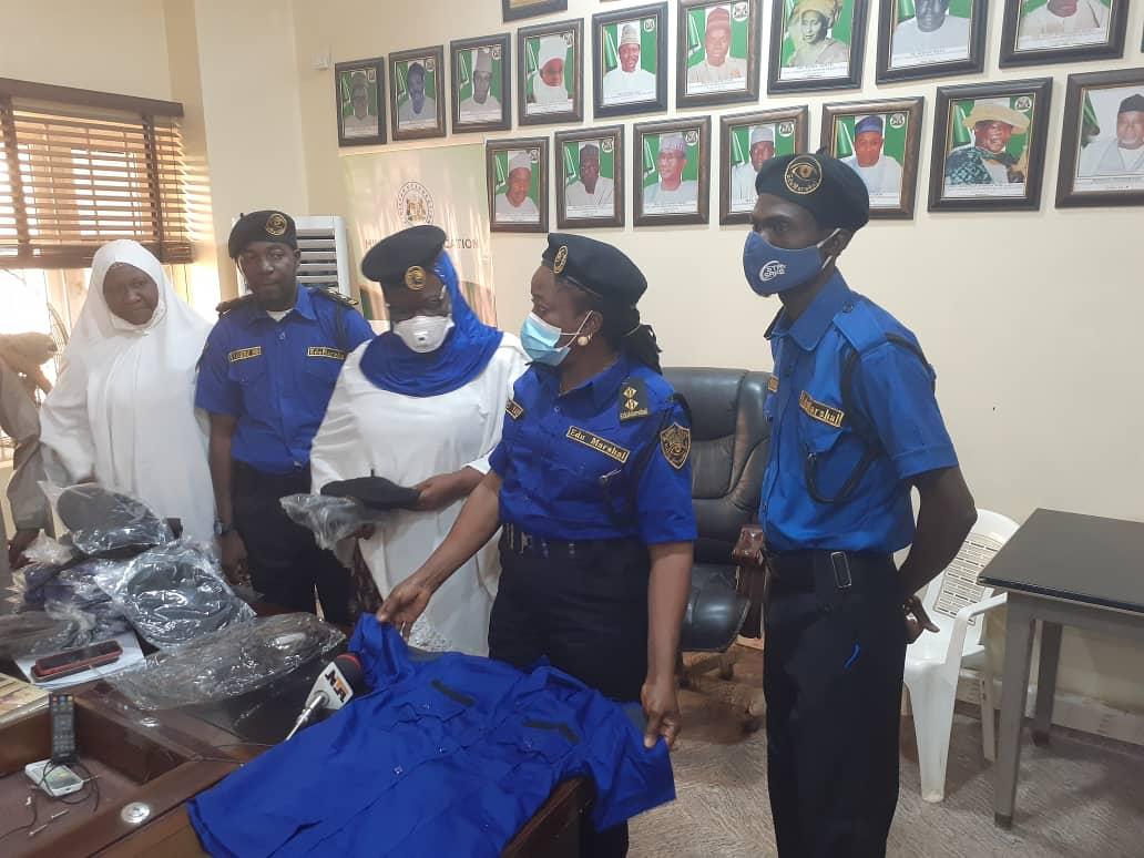 Official presentation of Uniforms to @EduMarshalsKad by @Drshehumakarfi reprensented by the PS of @Kaduna_MoE for onward dispatch to Marshals in the three Senatorial Zones in the State. @elrufai @Dattijo @GovKaduna @KADqualityEDU @AHayatu @sbello_13 @contactkdsg @STELLABLAIZE