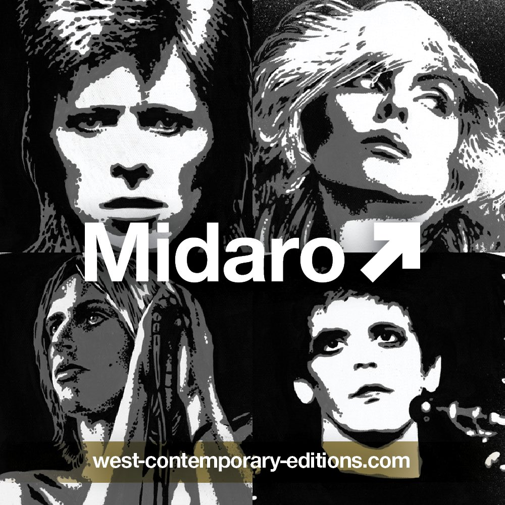 #Midaro - A collaboration by Mick Rock x @findac. All prints available to purchase from March 2nd at the link below. west-contemporary-editions.com