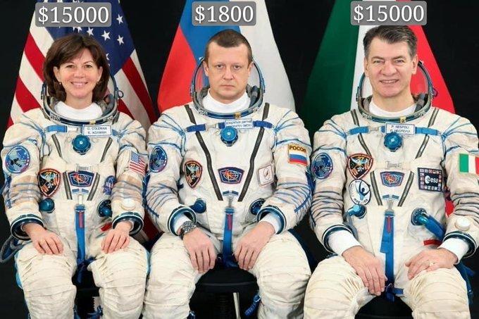 Российские космонавты взбунтовались из-за низких зарплат</b>>Российские космонавты взбунтовались из-за низких зарплат