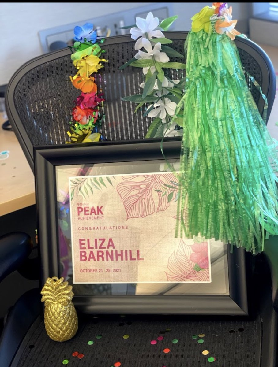 Aloha and Congratulations @elizabarnhill on your well deserved @TMobile Peak Win! Thank you for all you do for our team. #Peak21 @richgarwood @rhackin @JonFreier