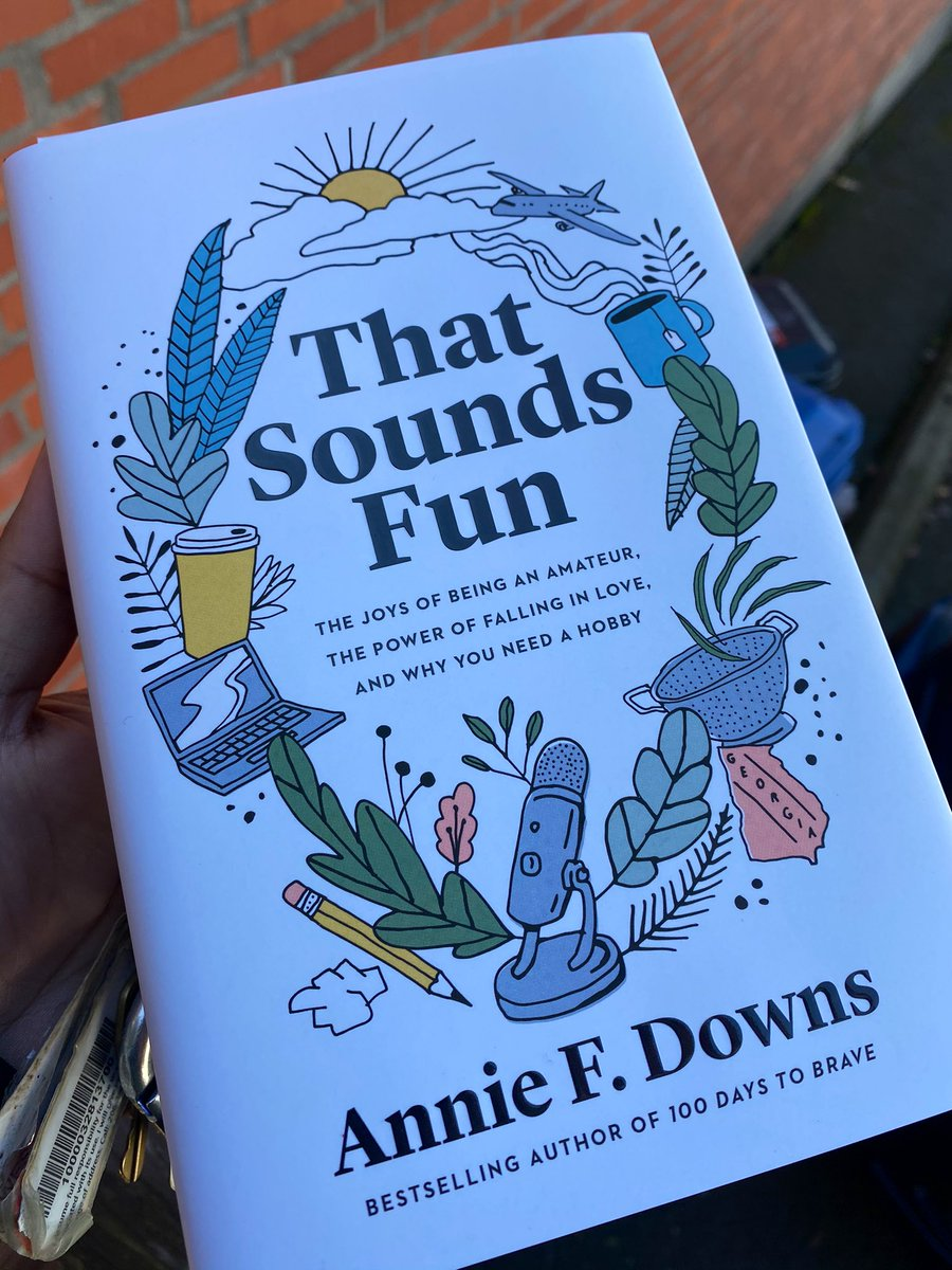 So excited to be able to read along with @anniefdowns from the audio #ThatSoundsFun. (My bookstore didn't have a signed edition!) I think I'm more obsessed with Annie's laughter throughout the audiobook though. I wonder how much she ad-libbed.
