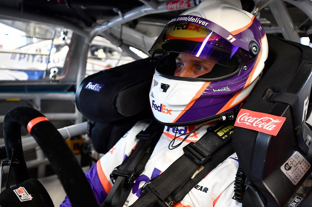 Who's ready to hit the track for the first time in 2021? We are, and so is this guy. @dennyhamlin will be back on track in the #FedEx11 Toyota tonight for #TheClash at @DAYTONA.