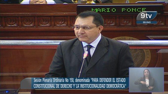 Presidente del Congreso pide a Bukele respetar la institucionalidad