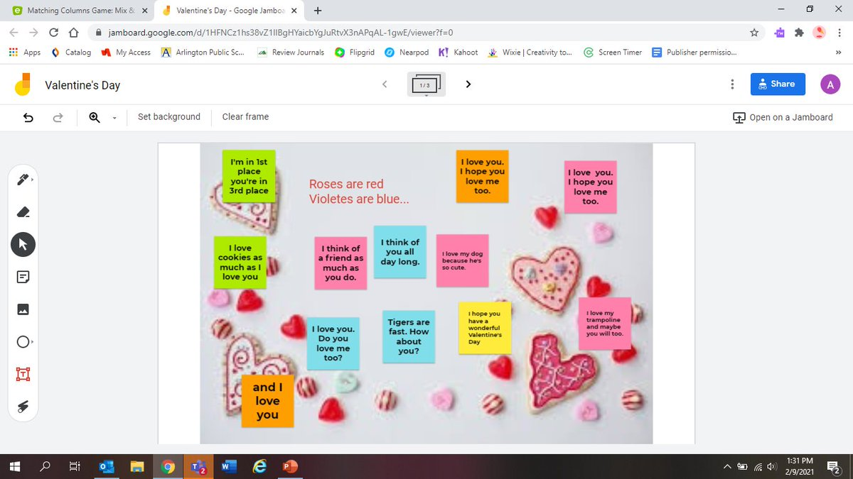 Ms. Murray's 1st graders wrote some great poetry for Valentine's Day! <a target='_blank' href='https://t.co/ZbrdPpL3t6'>https://t.co/ZbrdPpL3t6</a>
