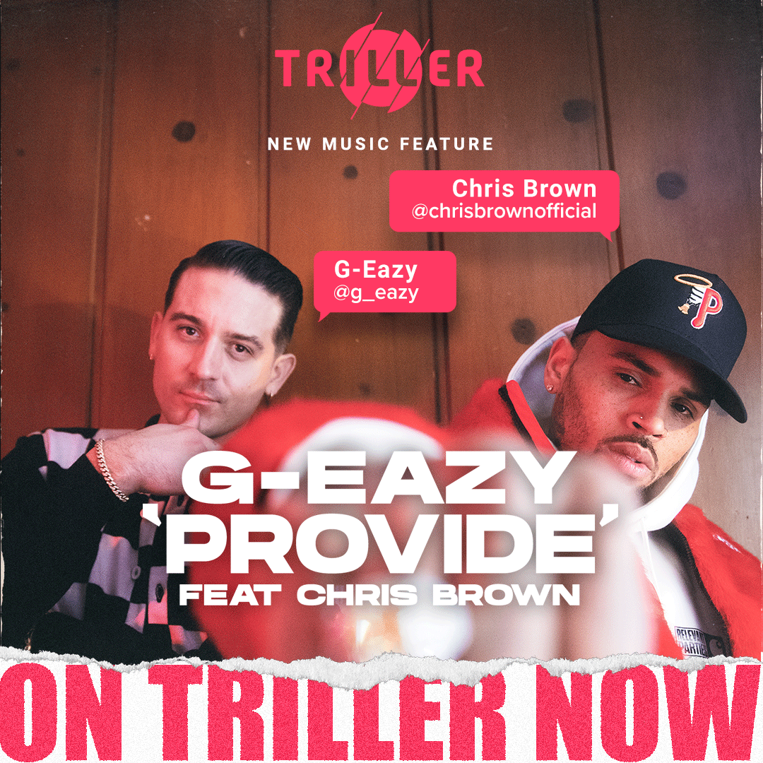 ".@G_Eazy ""PROVIDE ft. @chrisbrown"" is 🔥! Comment below how many times you've listened to ""Provide"" https://t.co/MioP51lSbe"