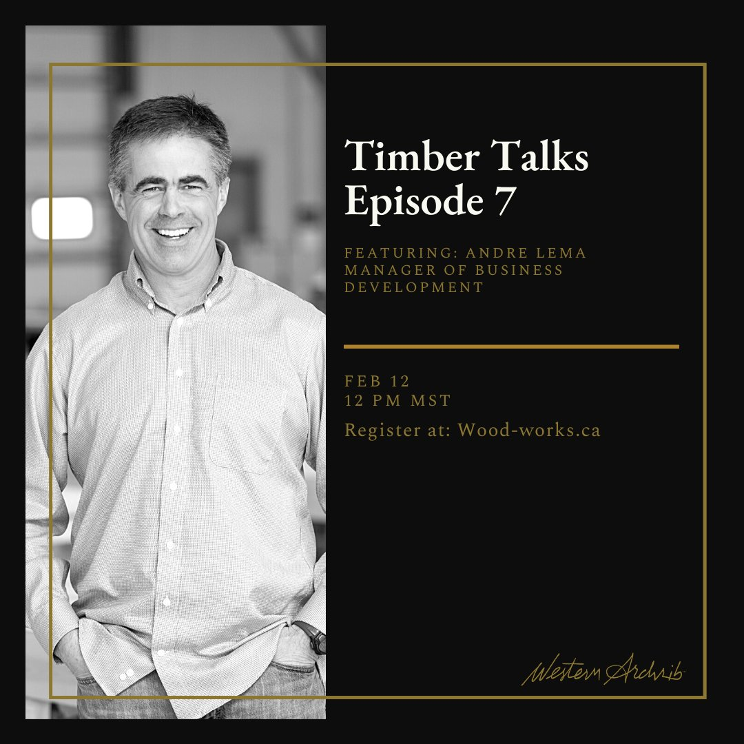 Excited to have @WesternArchrib at the next Timber talks! @wood_works