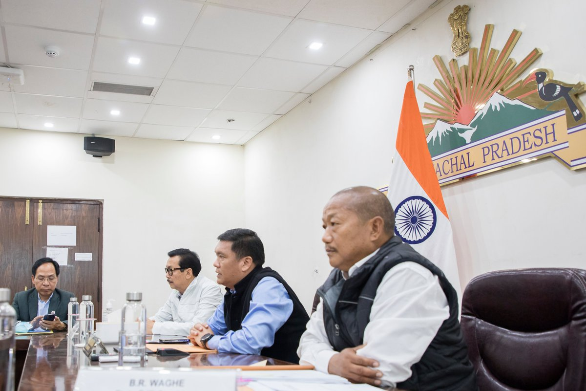"Time again we always remind ourselves ""Country First, Party Second and Self Last"".   Chaired the Legislature Party Meeting of @BJP4Arunachal today."
