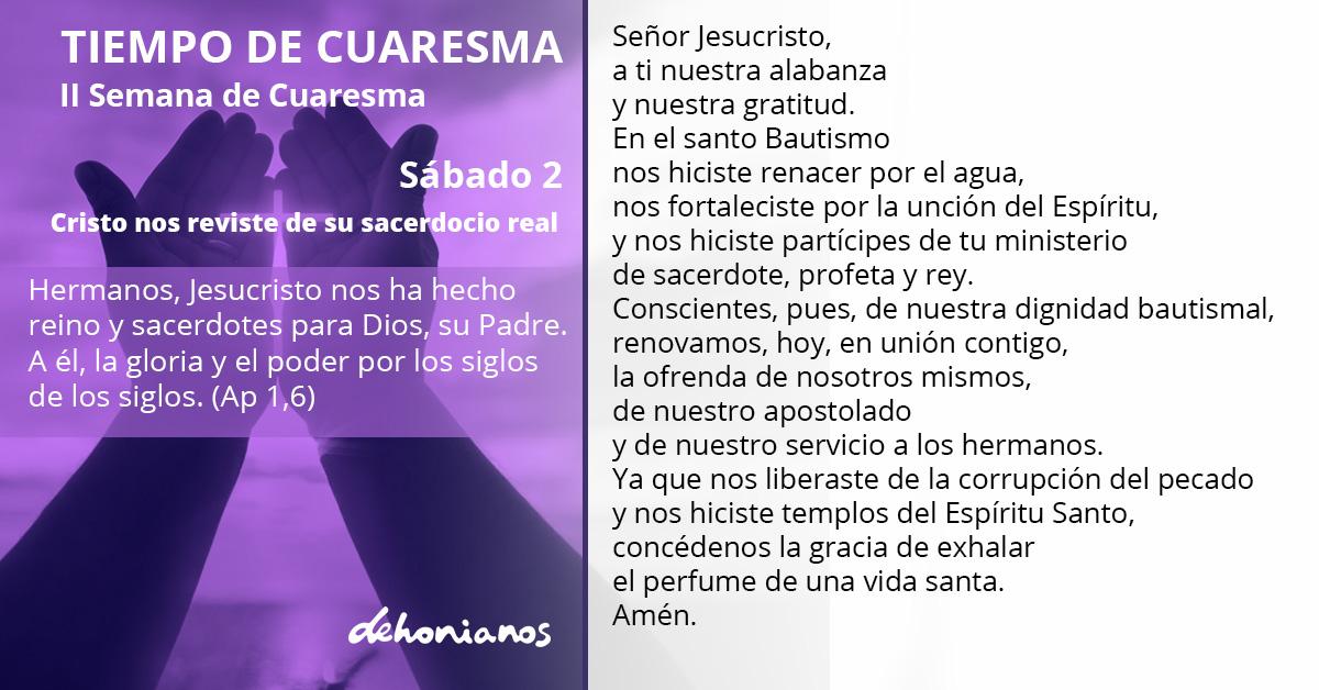 #Oración #OraciónDehoniana #Dehonianos #FamiliaDehoniana #Cuaresma