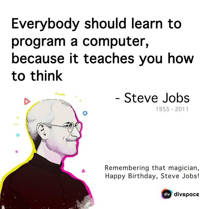 Remembering the magician. Happy Birthday, Steve Jobs!
