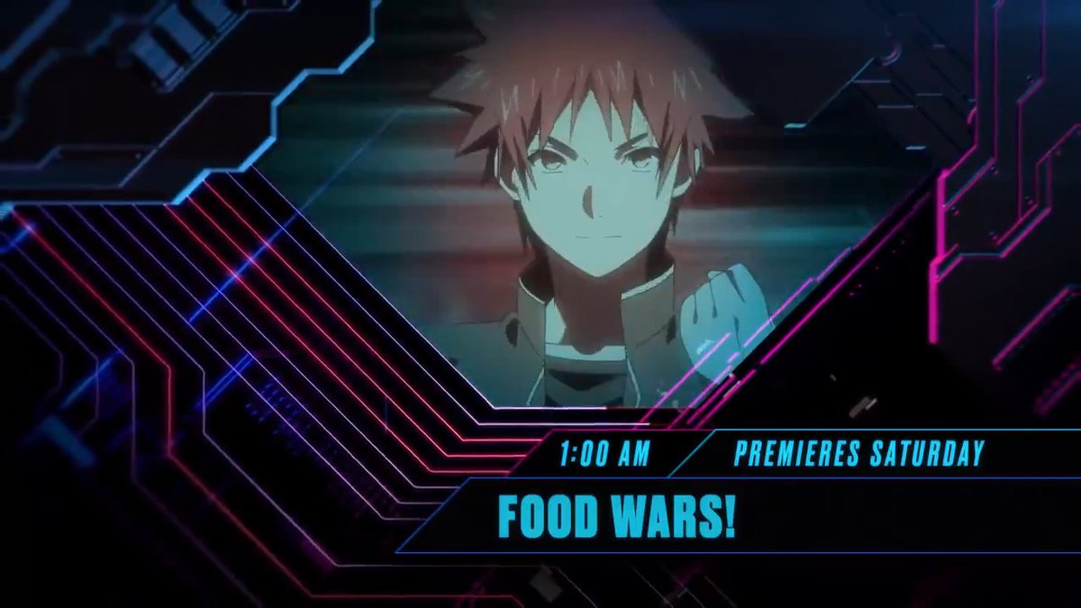Tonight, don't miss the Season 3 premiere of #FoodWars, premiering at 1:00am! Only #Toonami, on adult swim