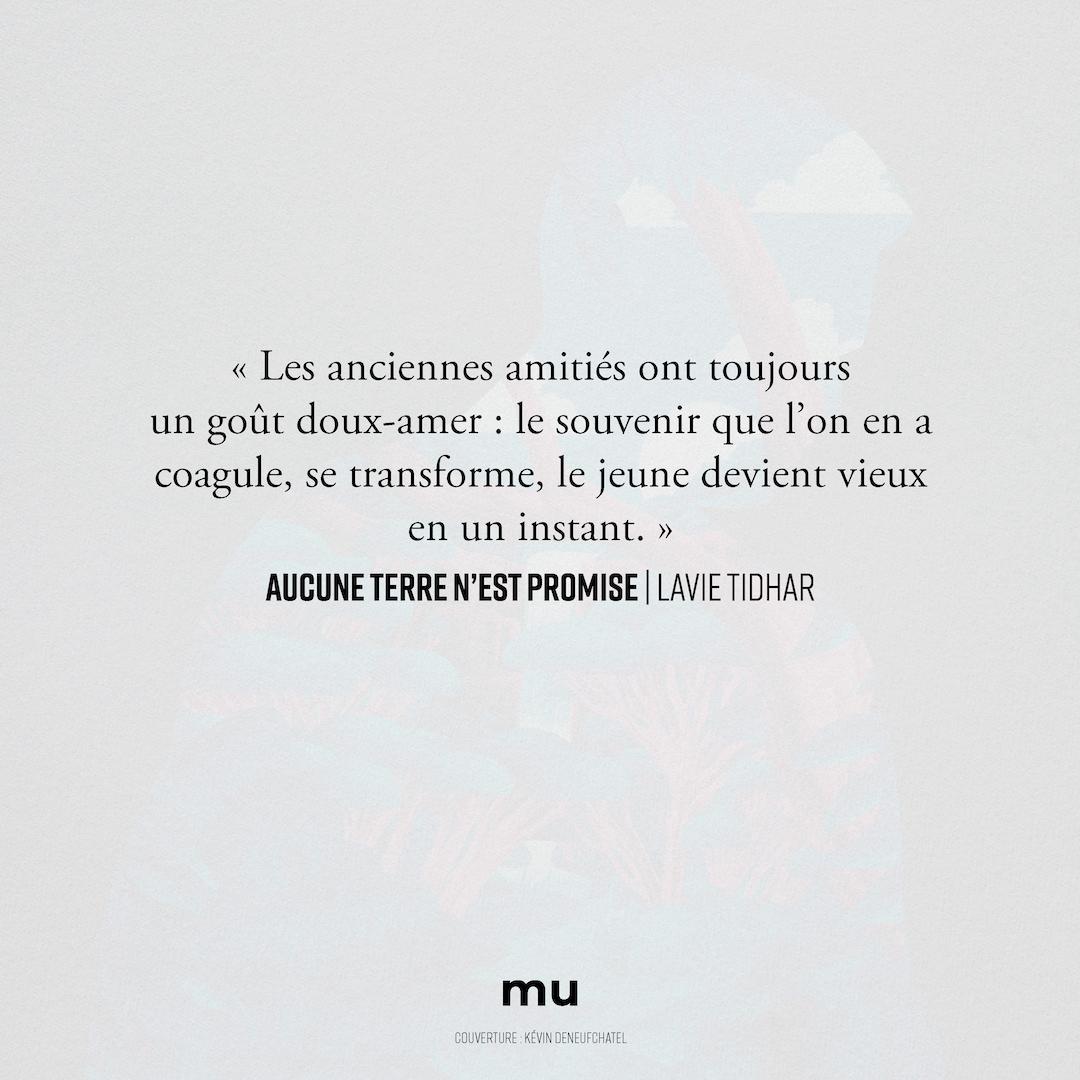 """Quelques mots... """"Aucune terre n'est promise"""" de Lavie Tidhar Traduit de l'anglais par Julien Bétan Disponible en librairie #mu #roman #littérature #identités #territoires"""