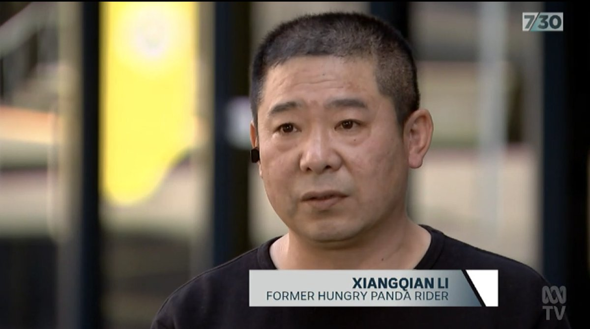 After I protested, @HungryPanda15 retaliated against me and expelled me from my job. I felt really helpless. The TWU has launched an unfair dismissal case for Xiangqian Li and his coworker Jun Yang. #abc730