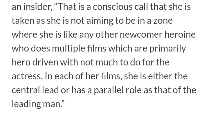 """""""That is a conscious call that she is taken as she is not aiming to be in a zone where she is like any other newcomer heroine who does multiple films which are primarily hero driven with not much to do for the actress""""   #JanhviKapoor #Roohi #GunjanSaxena #Dostana2"""