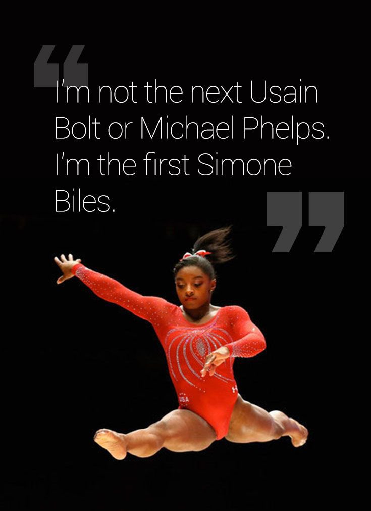 Don't be in a race to be the second of someone else, be the first of you! #WednesdayWisdom @Simone_Biles