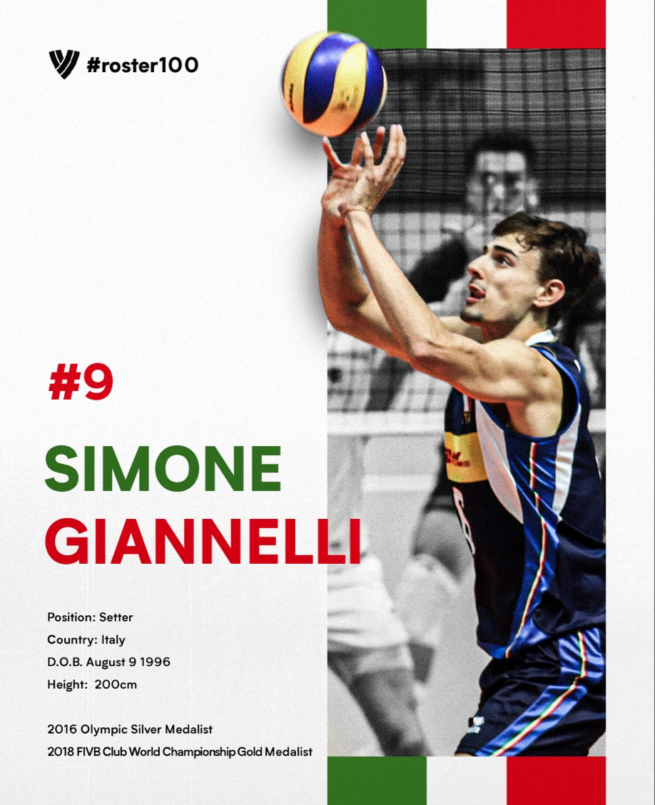 #ROSTER100 PRESENTS: Simone Giannelli - Bound For Greatness.  FULL STORY: https://t.co/kmARKS6FTV  #Volleyball 🏐 https://t.co/cBqXzdMW6Z