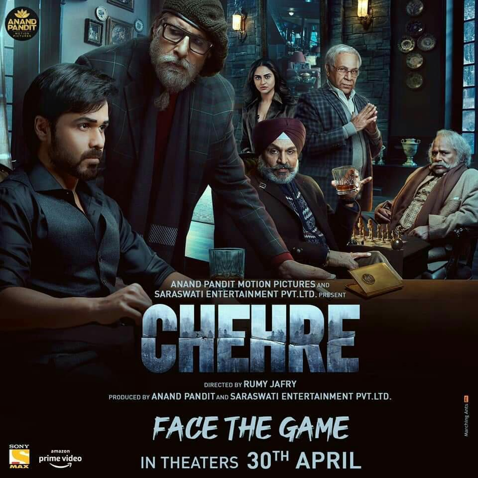 The @SrBachchan film #Chehre (#FaceTheGame) is releasing 30th April 2021, YEAH !!!  Wait!!! ... Cinemas in UK open 17th May 2021 !!!  #AmitabhBachchan