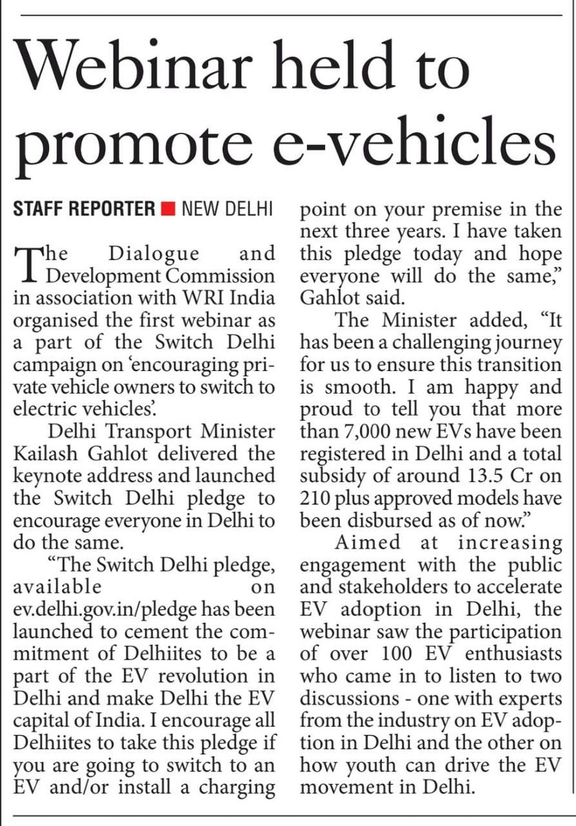 Take the Switch Delhi Pledge at  now!  Let's contribute together towards a cleaner and greener Delhi.  #SwitchDelhi