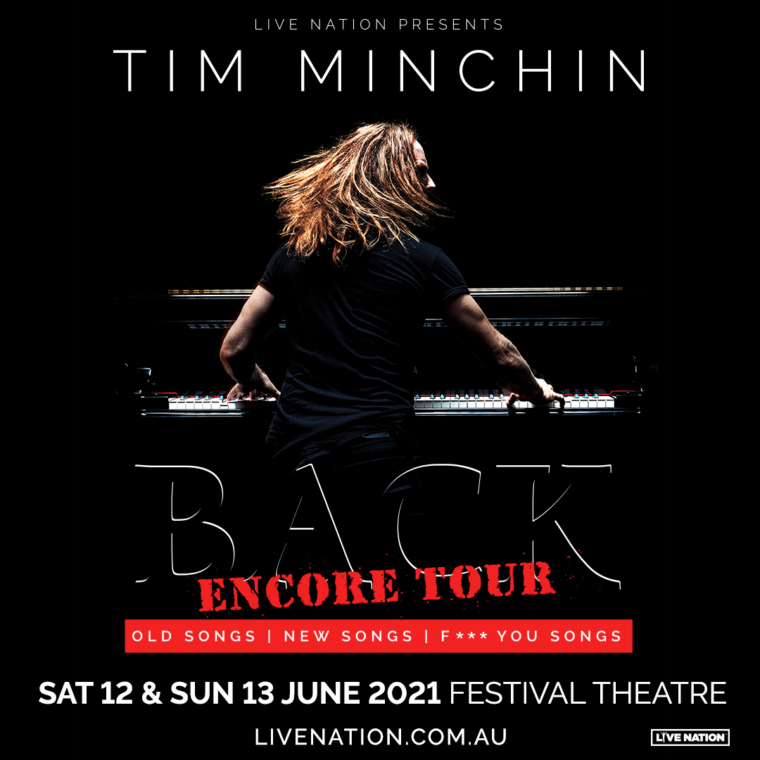 News: Due to demand Tim's added an extra show in Adelaide for the encore return of BACK, as part of the Adelaide Cabaret Festival, on Sunday June 13th.  Tickets on sale NOW!