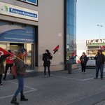 Image for the Tweet beginning: Protesta laboral en la empresa