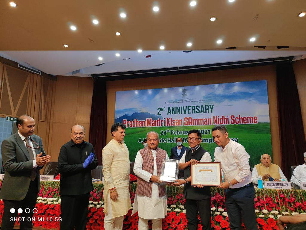 PM-KISAN is a CS scheme in which a benefit of Rs 6000 is provided to the farmers by DBT. Arunachal Pradesh has been recognised for the highest percentage of Adhar authenticated beneficiaries with 98%. Congratulations to all the officers & field functionaries of Agriculture dept.
