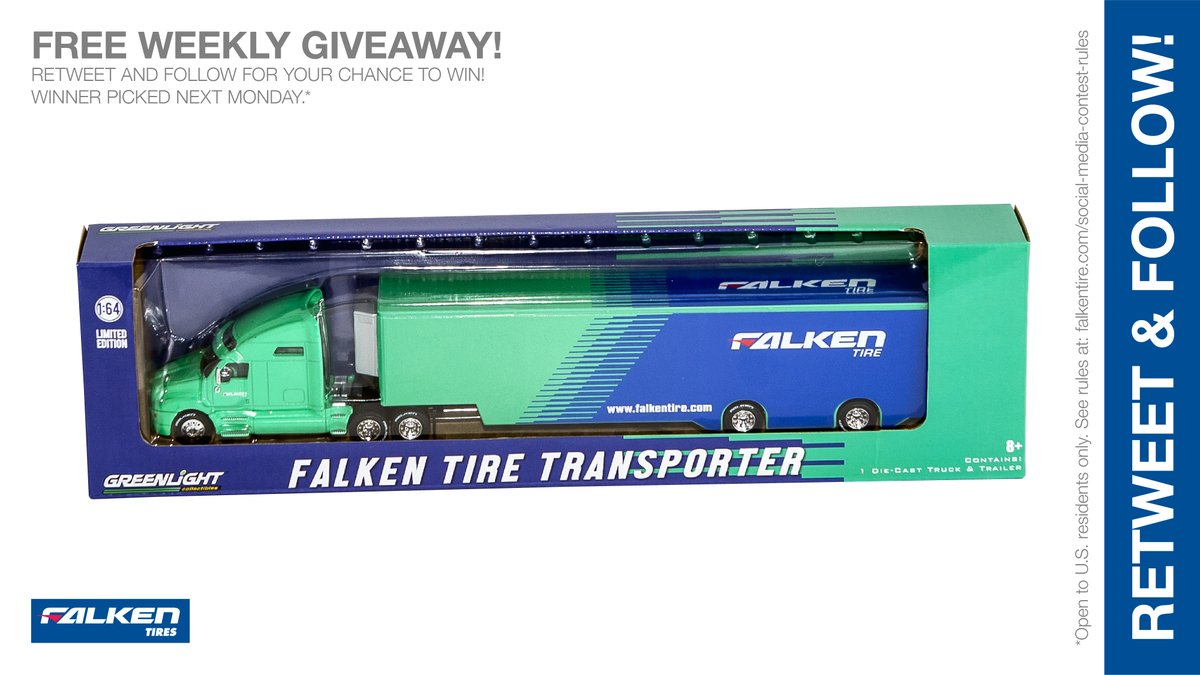 1:64 scale @GLCollectibles #Falken Transporter weekly #giveaway #contest. RT & follow #FalkenTire to enter to #win this #prize or other #swag! Rules:  Day3