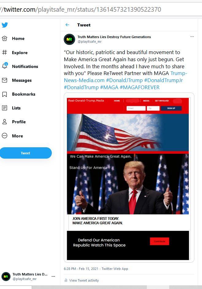 #TrumpCrimeFamily  #TrumpsNewArmy  Trump News Media Supporters Partner with Trump News Media: Support Conservative Social Issues and Political Issues. Please Retweet.   #Trump #TrumpsLastDay