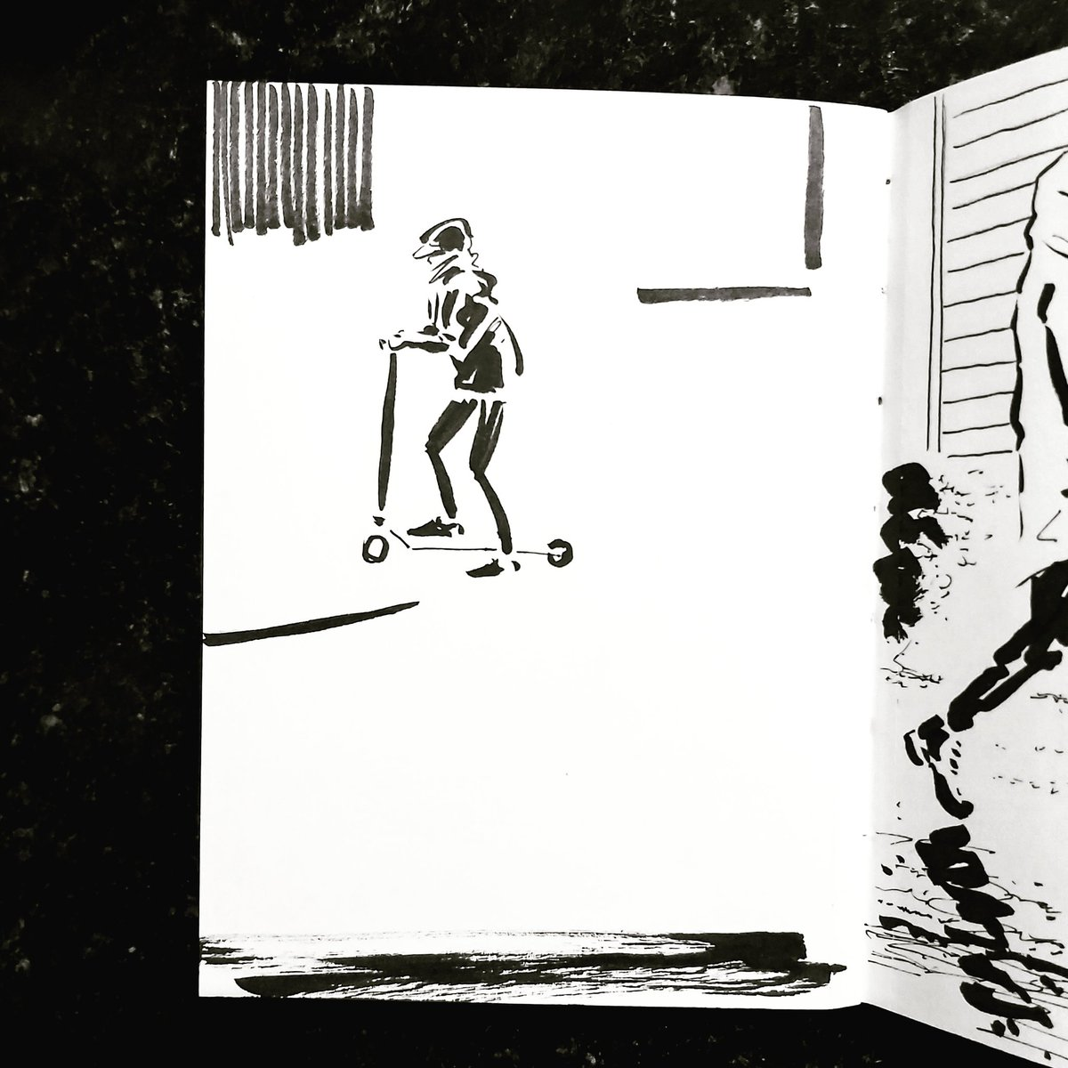 From the Inside 2 Day 110 (25o total) #isolation study Kitchen window Passerby No 149 #isolationlife #stayathome #lockdown #lockdown2uk #sketchbook #sketch #drawing #draw #doodle #ink #lineart #lifedrawing #figuredrawing #walk #artoftheday #art #artwork #artist #illustration