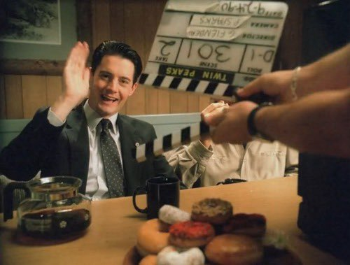 It s midnight where I m at, so I would like to wish Kyle MacLachlan a happy birthday
