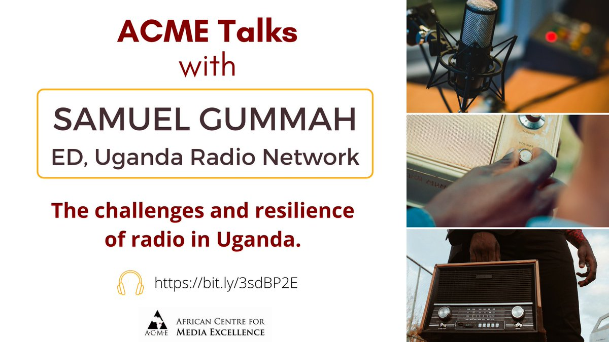 The latest episode of the ACME Talks podcast is up!   In this episode ACME Talks with @GummahS of @ugandarn to assess the journey of radio in Uganda in commemoration of #worldradioday.   Listen on Anchor -  - or wherever good podcasts are found.