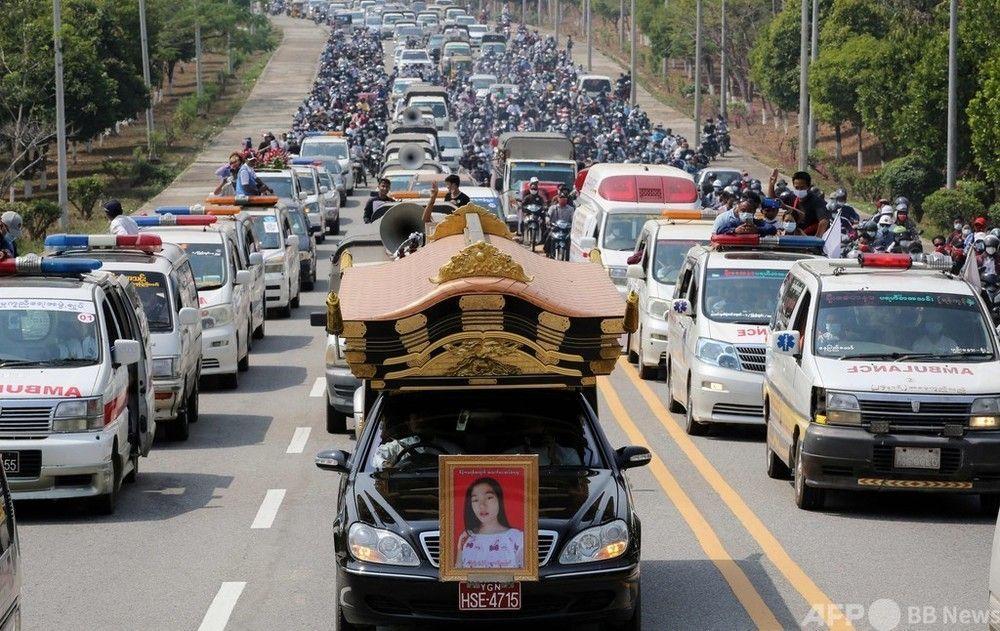 霊柩車 ミャンマー