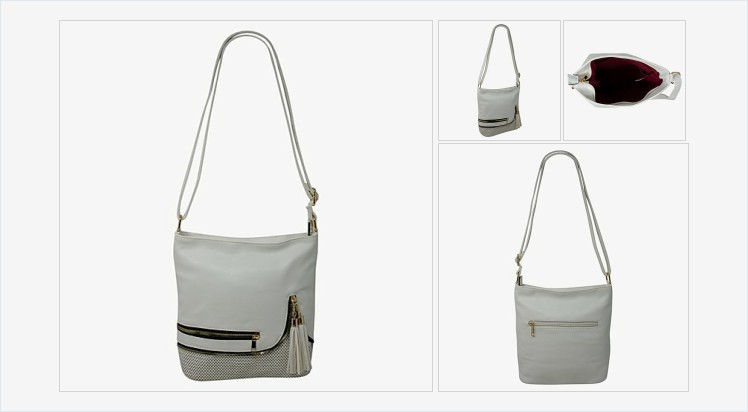 Jewellery Shop | Bluediamonds Gift Shop - Lovely white faux leather zip and tassle handbag #handbag #white #zipped #tassles #fashion #accessories #gifts #giftideas #giftsforher #shopping #onlineshopping #beauty #fashionaccessories bluediamondsgiftshop.co.uk/product-page/w…