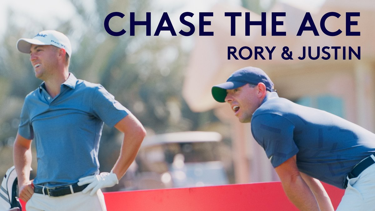 50 balls each to make a hole-in-one...  Step up @McIlroyRory and @JustinThomas34.  #ChaseTheAce5050