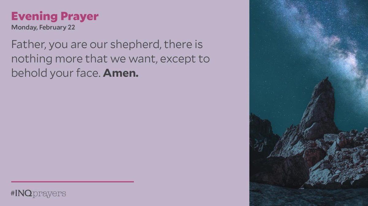 Today's Evening Prayer. #INQPrayers