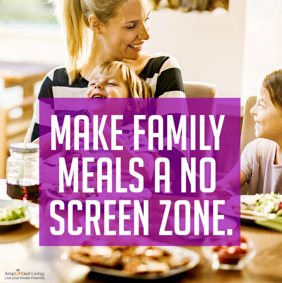 Meal time is an important time for family conversations and sharing the day's experiences without media getting in the way.  #MondayMantra #TheCaryingPlace #noscreenzone