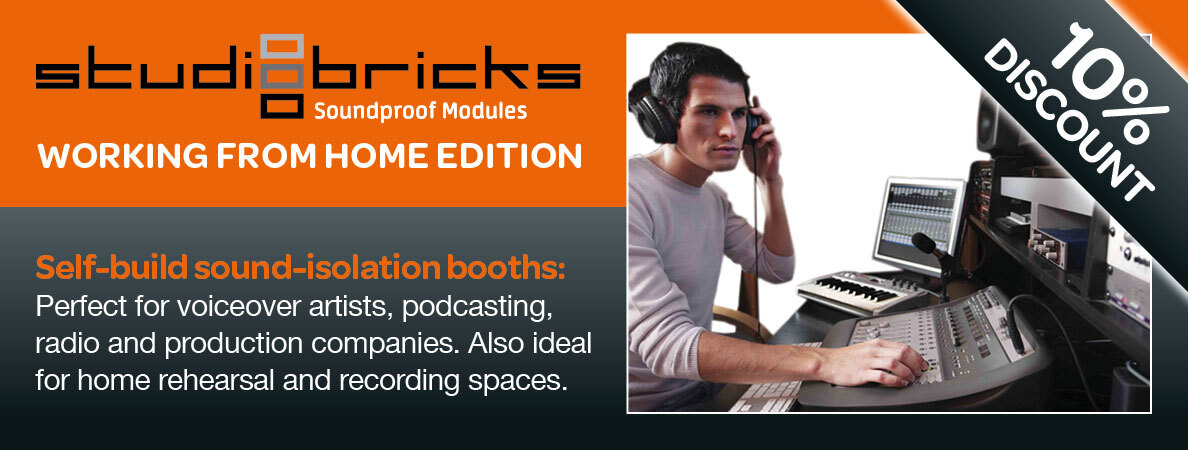 Just one week to go on our February monthly offer! 10% discount on the #Studiobricks booths - ideal for #voiceover, #podcasting, #mediaproduction and #recording music and #vocals. https://t.co/KlILLIePkL