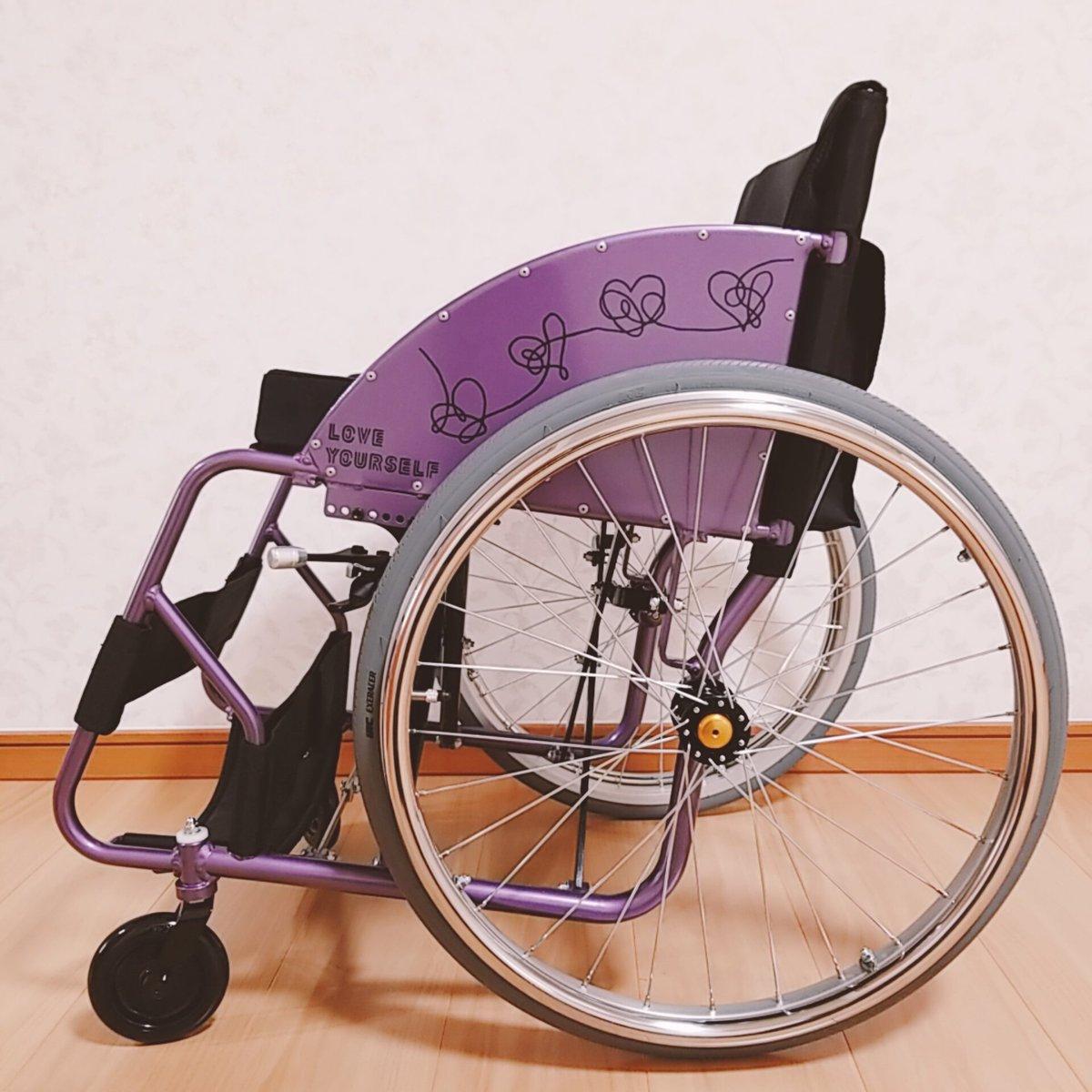 お友達の素敵なセンスとスゴ技によって、私の車椅子がLOVE YOURSELF仕様になりました  感謝感激で…もぉ泣きそう ✨ 世界中に自慢したいくらいです