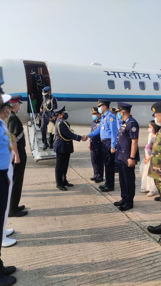 CAS Air Chief Marshal RKS Bhadauria embarked on a goodwill visit to Bangladesh today, on an invitation from Air Chief Marshal Masihuzzaman Serniabat, Chief of Air Staff Bangladesh Air Force.