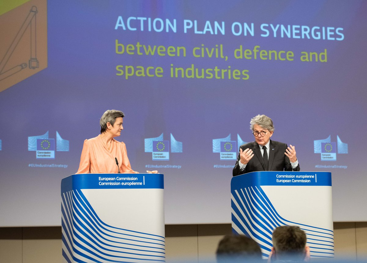 By ensuring strong synergies between defence, space and civil technologies, we 🇪🇺 will generate disruptive innovation, remain a global standard setter, reduce our dependencies in critical technologies and boost the industrial leadership we need to recover from the crisis
