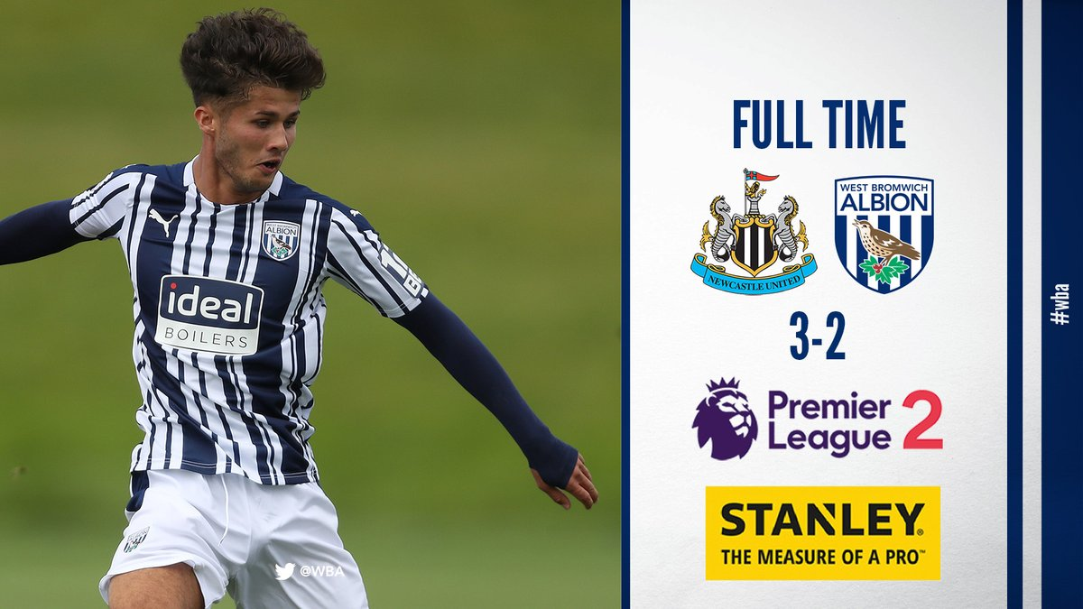 It's a narrow defeat for our youngsters.  Second-half strikes from Jamie Soule and Toby King aren't enough to earn us a draw in a game which also saw both teams finish with 10 men.   | #PL2 | #WBA