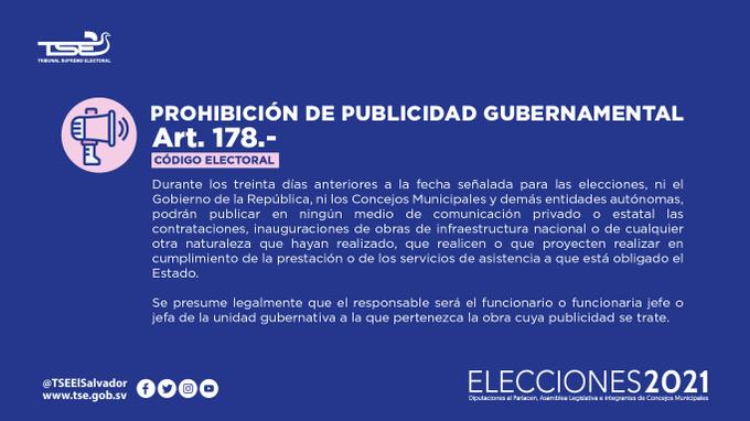 TSE: Es prohibido inaugurar obras del gobierno en campaña política