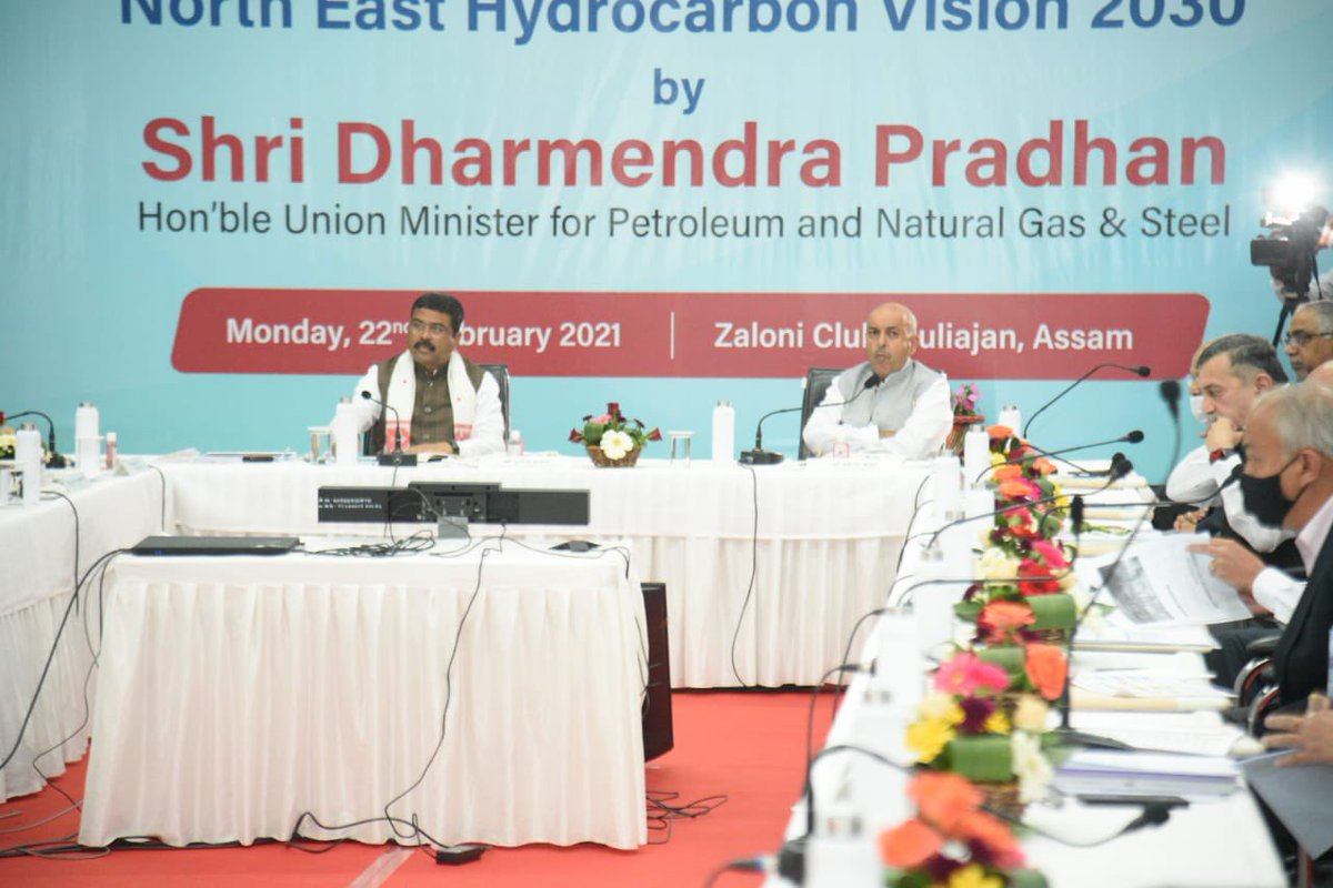 Also, suggested our oil companies to ensure 100% penetration of LPG in NER, expand footprints of CBG and alternative energy in a big way and make coordinated efforts to come up with a collaborative model in the area of petrochemicals to create more value and opportunities.