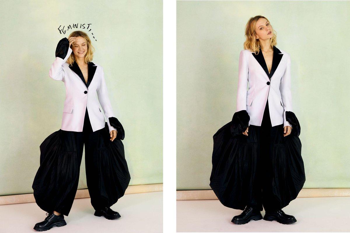 Carey Mulligan in LOEWE Spring Summer 2021 foe Harper's Bazaar  #LOEWE #LOEWESS21