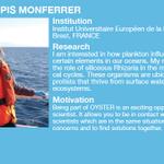 Image for the Tweet beginning: @NataliaLlopis1 Natalia Llopis Monferrer @IUEM_Brest