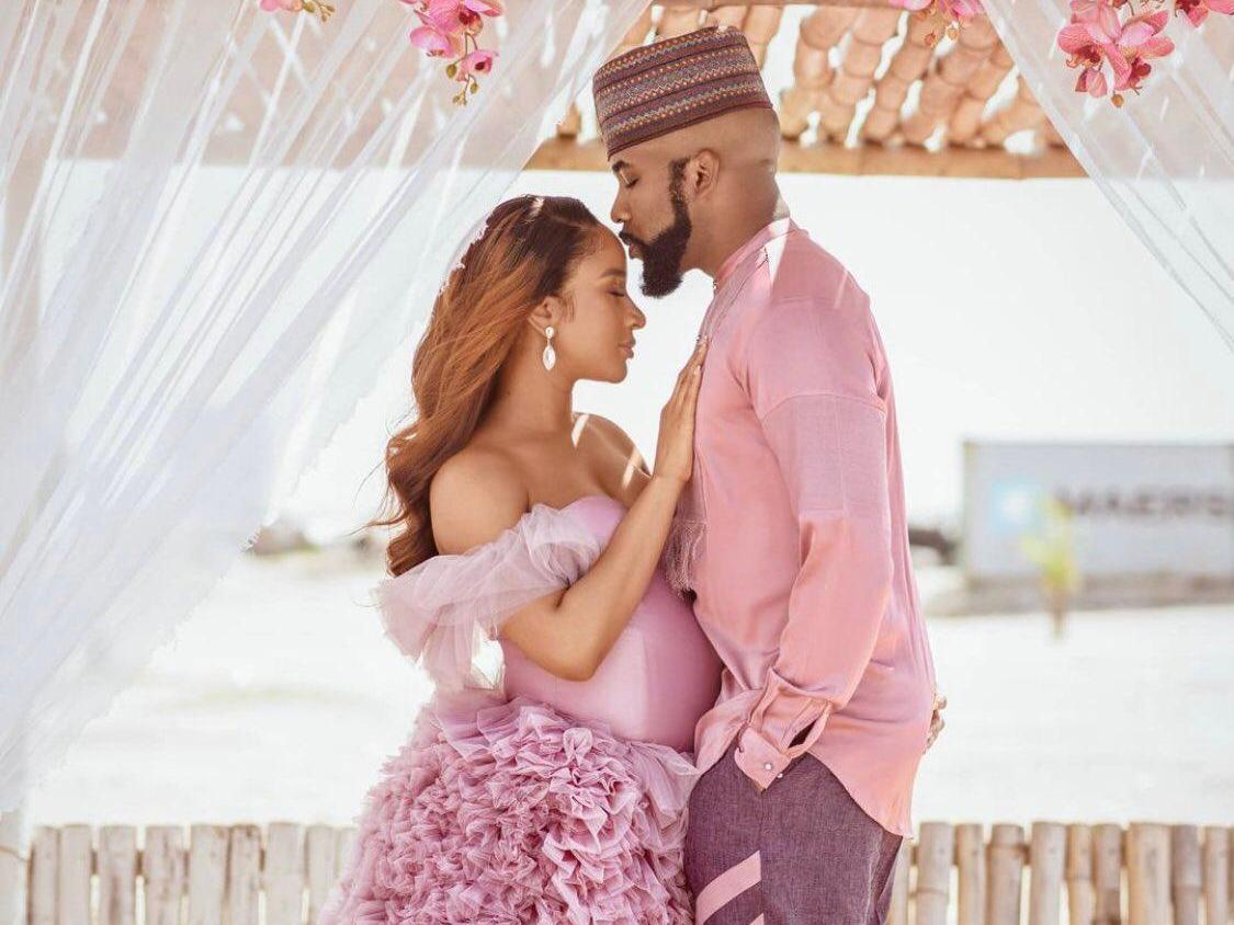 Jubilations as Banky W and Adesua welcome first child