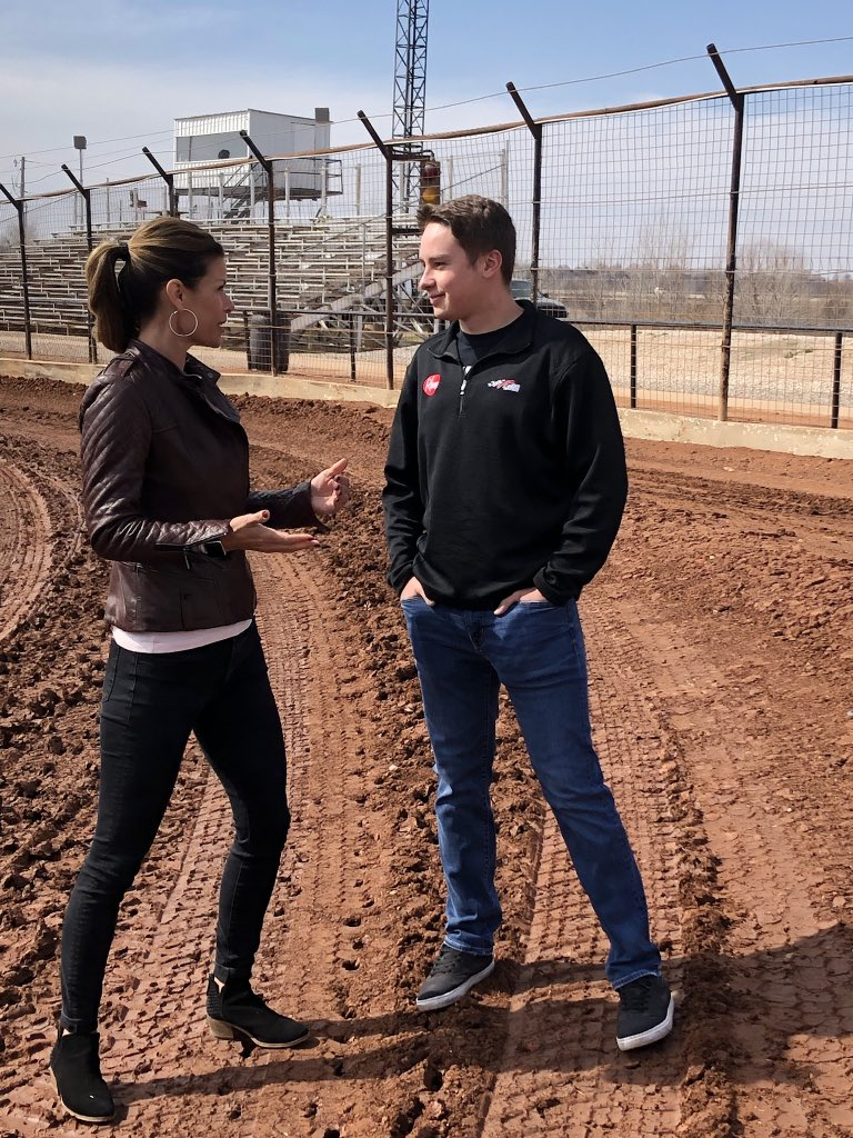 Making Norman, Oklahoma proud. (When @CBellRacing took us home to where it all began).