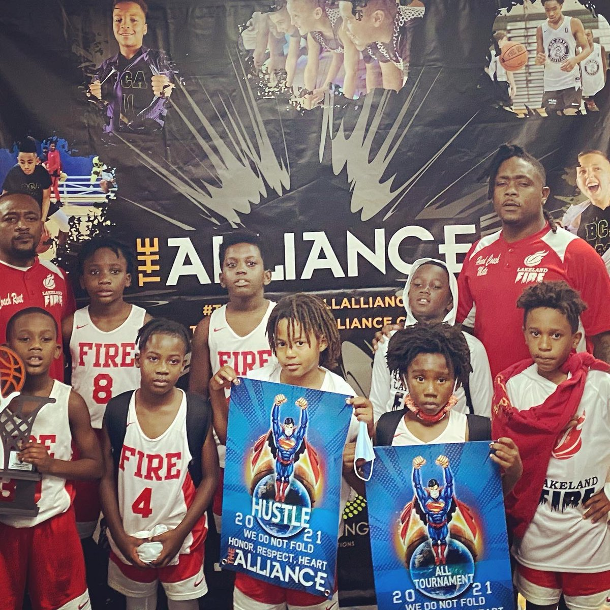 Proud of these young'ns...these kids showed up in South Florida this weekend...came up short in championship game but was impressed on how we battled. Back to work 💪🏾...will continue to get better‼️ #championshipsunday #education1st #Fire2030 #turnerboy12